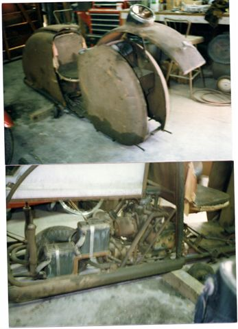 Onan 2 cylinder engine, front trunk.