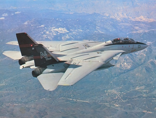 f-14 over the mountains